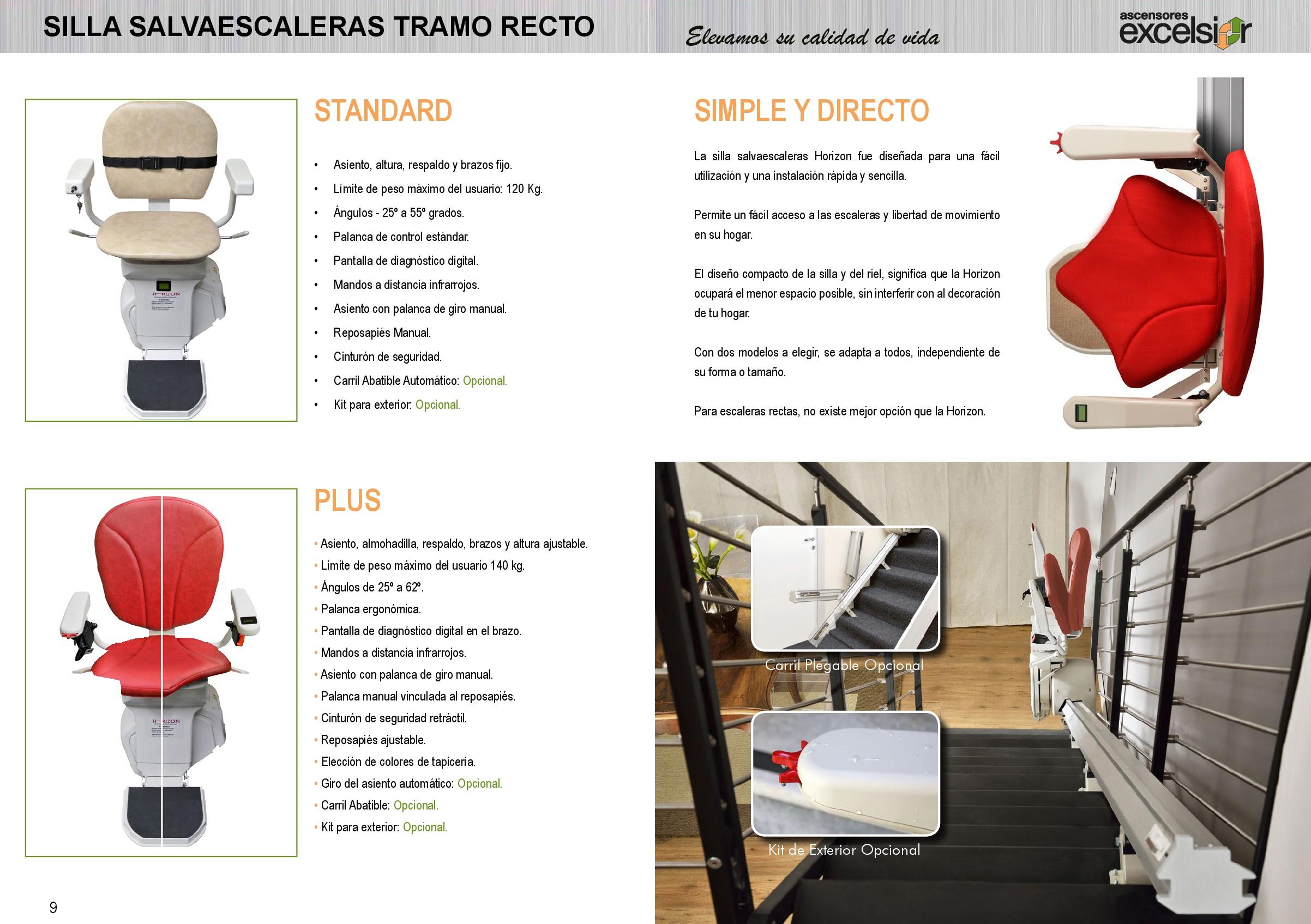 Sillas salvaescaleras original en castellano para minusvalidos