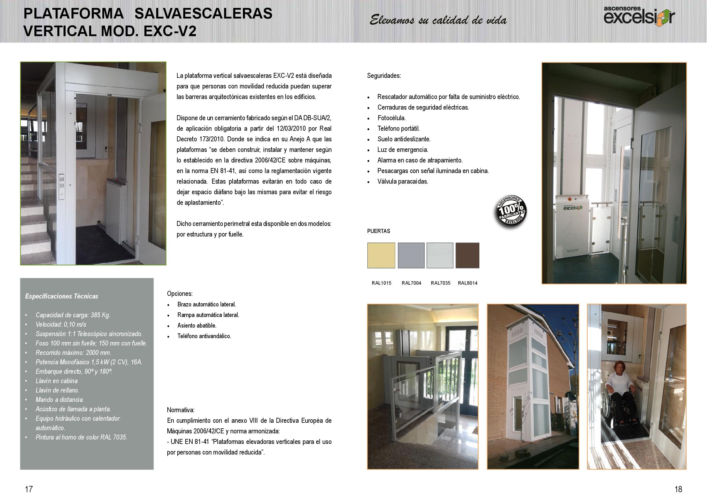 Plataformas salvaescaleras personales original español