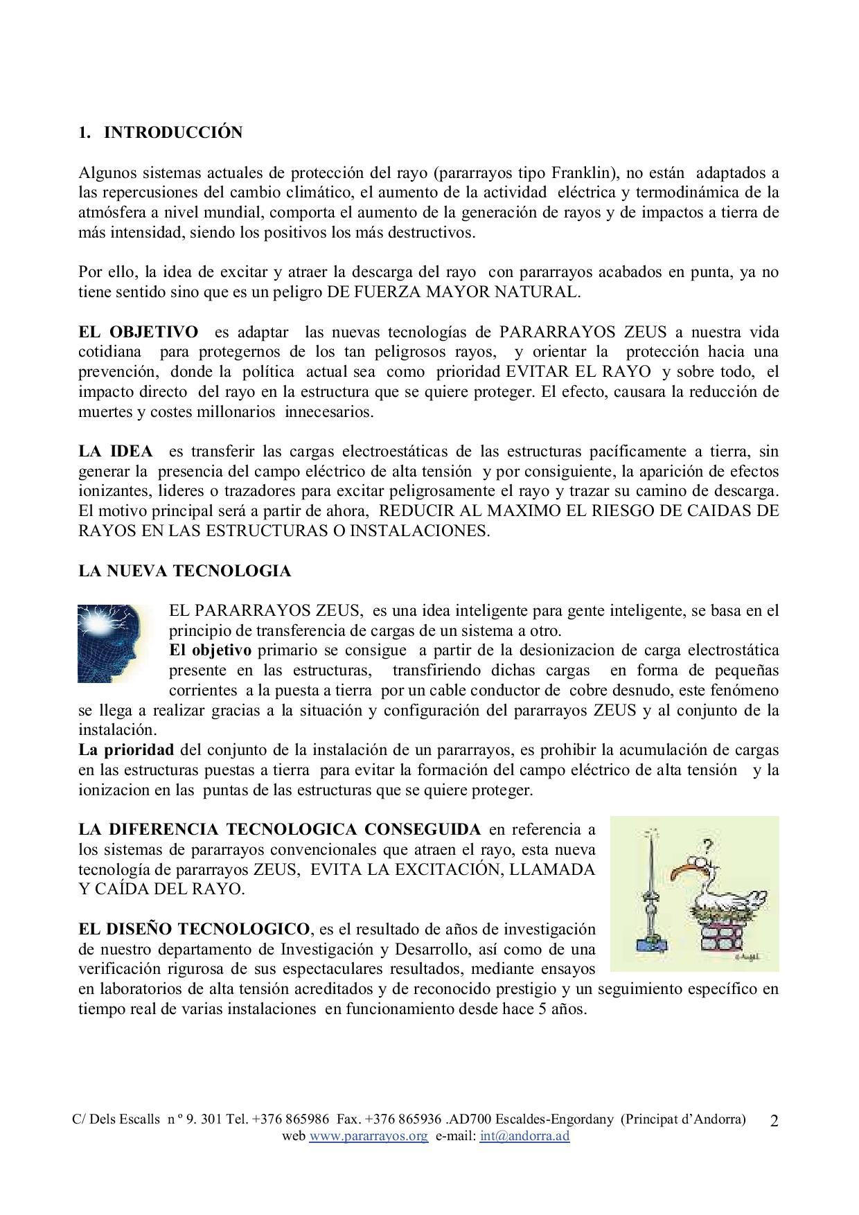 Manual de usuario de pararrayos